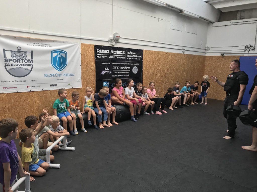 Jeden z turnusov detského prímestského tábora sebaobrany a zdravého pohybu pre deti