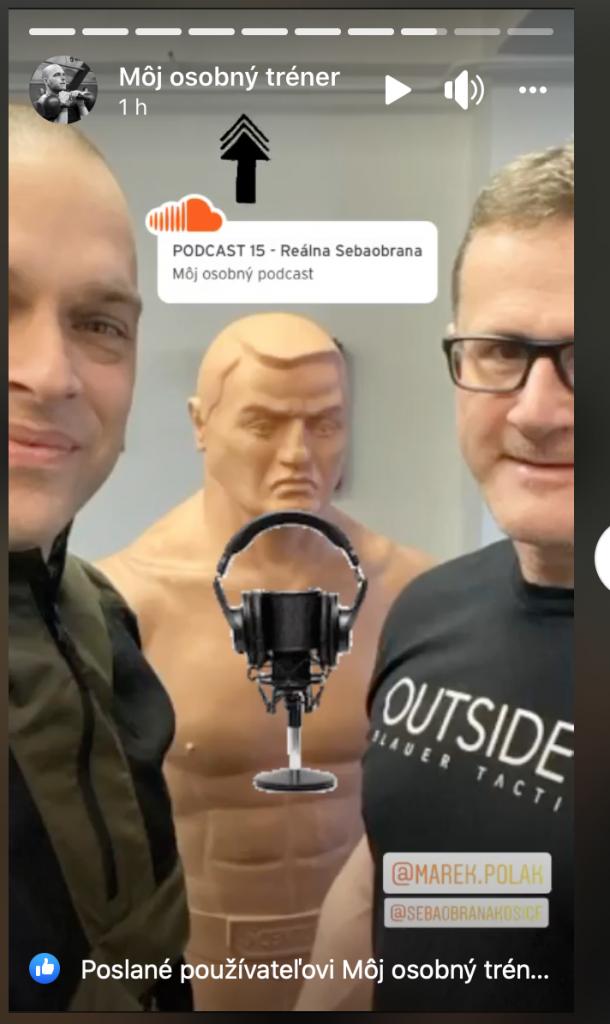 Michal Lakatoš a Marek Polák v podcaste Môj osobný podcast 15 - Reálna sebaobrana Košice